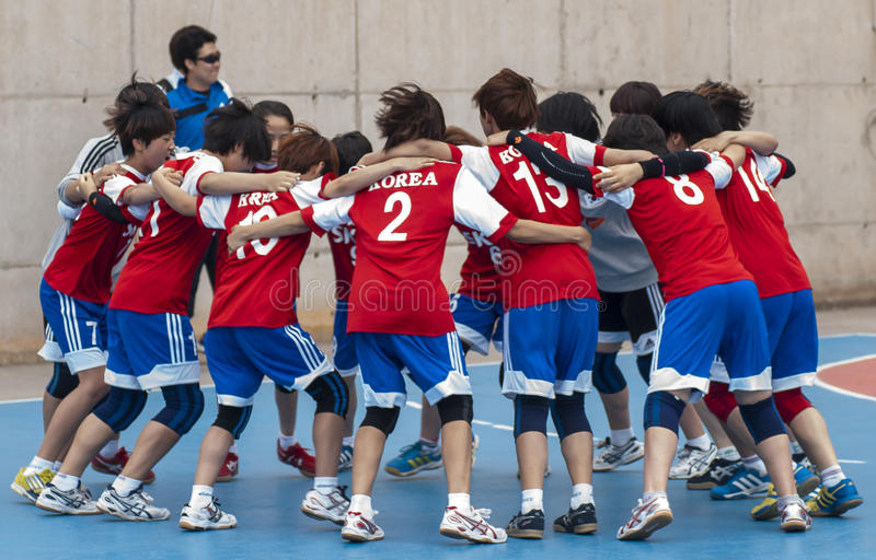 Download Granollers CUP 2013. Korea Team Editorial Photography - Image of goal, pavilion: 31944757