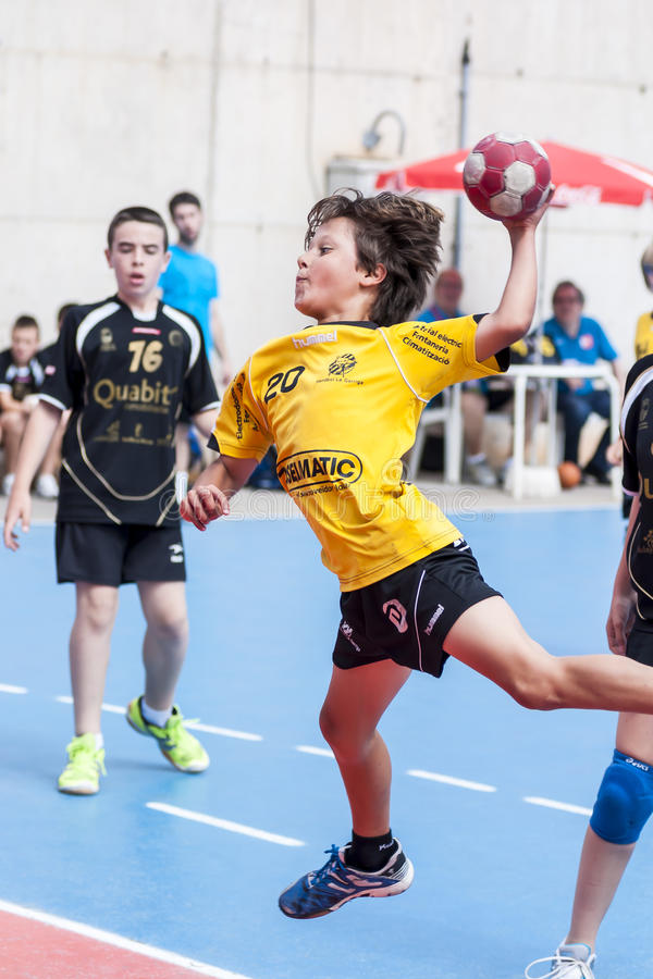 Download Granollers CUP 2013. Player Shooting The Ball. Editorial Stock Photo - Image: 31944838