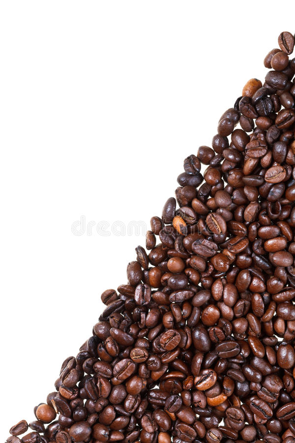 Granos de café asados cerca para arriba imágenes de archivo libres de regalías