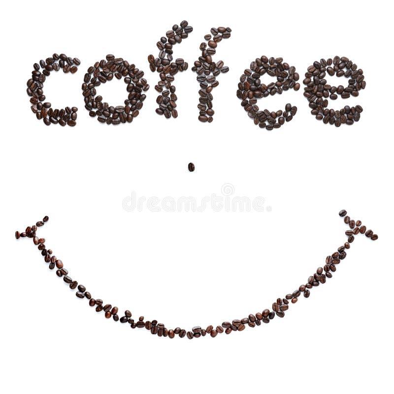 Granos de café de la sonrisa imagen de archivo libre de regalías