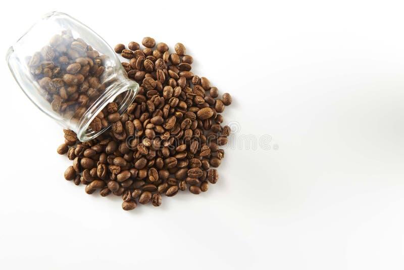 Granos de café en botella foto de archivo