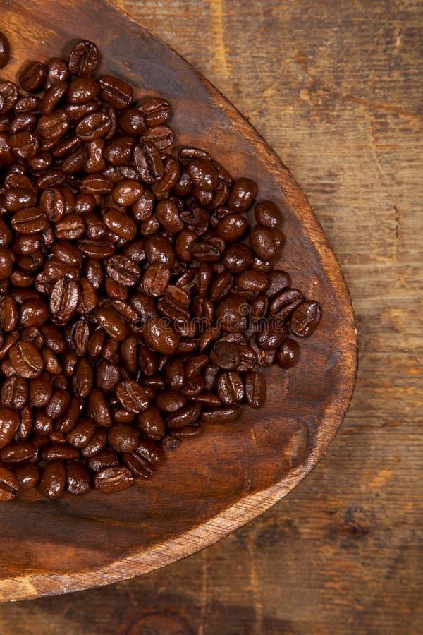 Granos de café italianos de la mezcla del café express foto de archivo