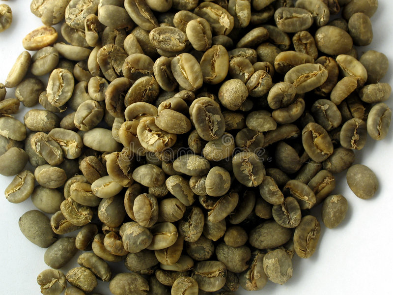 Granos de café verdes fotografía de archivo