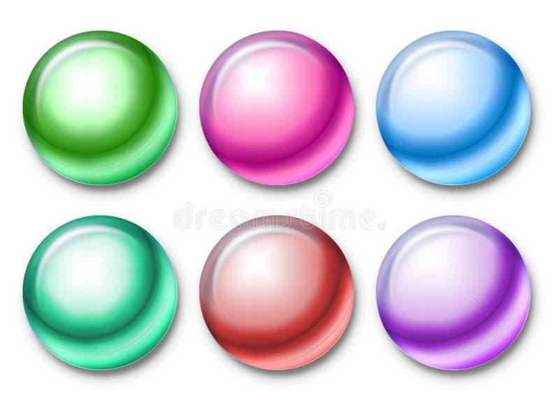 Granos del color ilustración del vector