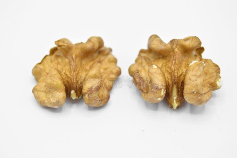 Granos marrones beige sanos y nutritivos de la nuez imágenes de archivo libres de regalías