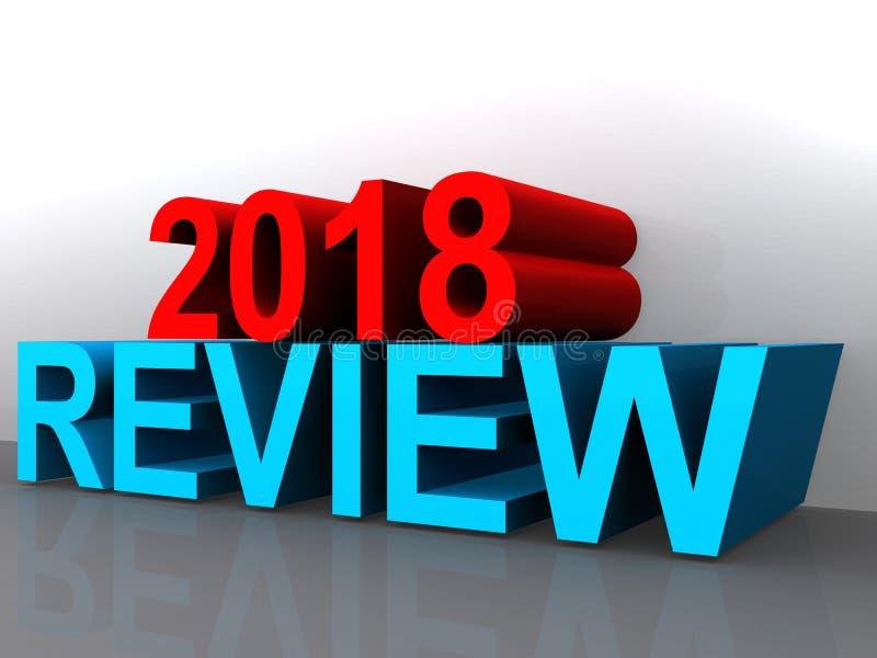 Granskning 2018 stock illustrationer