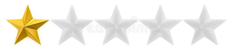 Granskning för en till fem stjärna vektor illustrationer