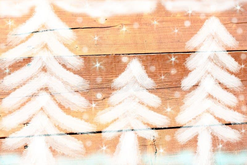 Granskog i vinter stock illustrationer