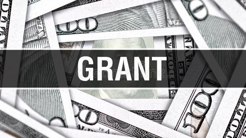 Grant Closeup Concept Amerikanische Dollar des Bargeld-, Wiedergabe 3D Grant an der Dollar-Banknote Finanz-USA-Geldbanknote Werbu stock abbildung