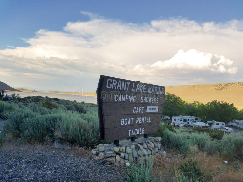 Grant Lake Marina stock fotografie