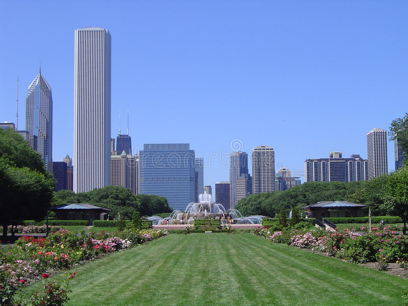 Download Grant Park - Chicago stock image. Image of chicago, water - 102193