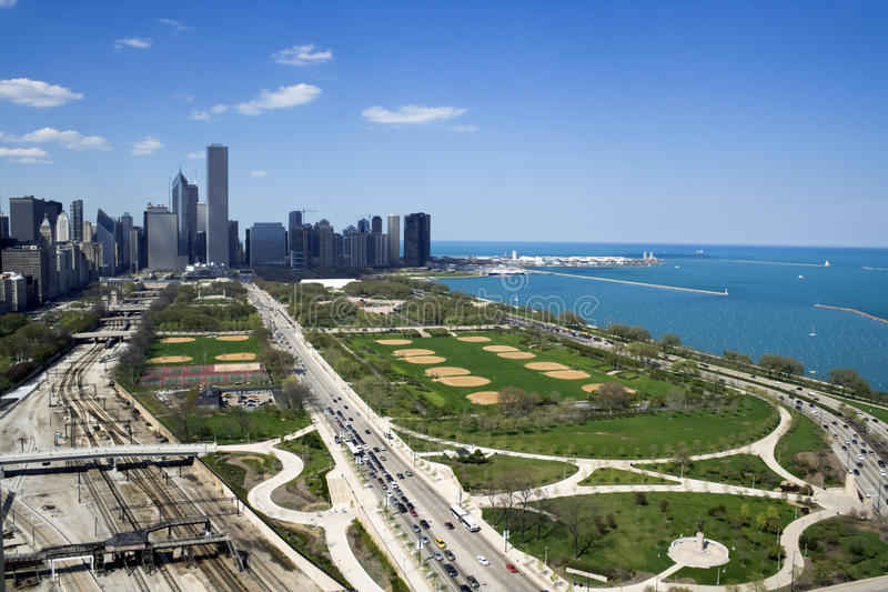 Download Grant Park in Chicago stock image. Image of dusk, city - 10360429