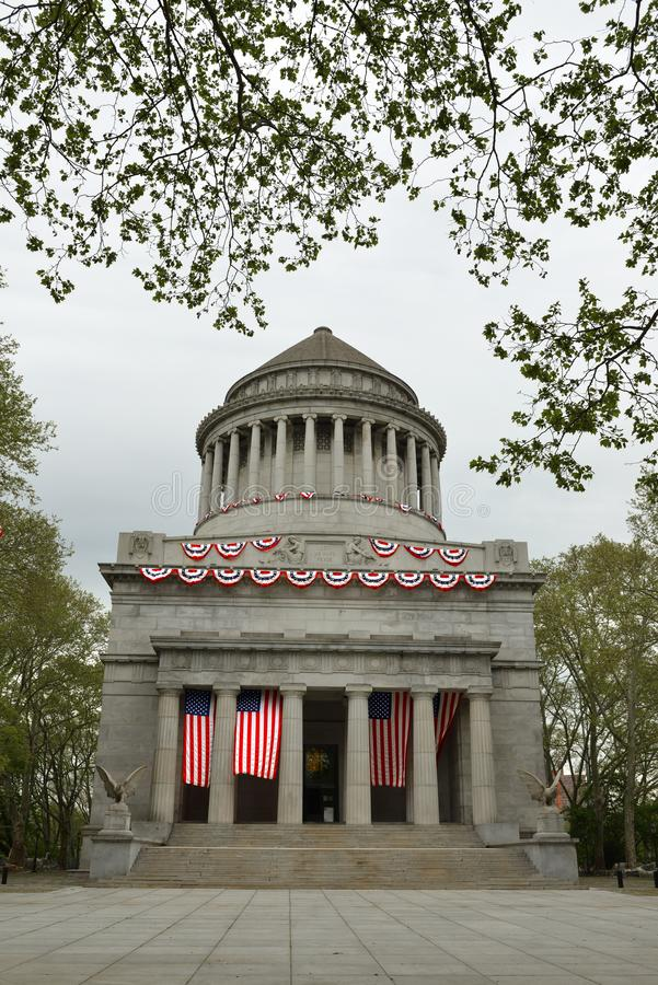 Grant`s Tomb, known as General Grant National Memorial, final resting place of Ulysses S. Grant 1822–1885, 18th President of Uni. Ted States, and his wife royalty free stock photo