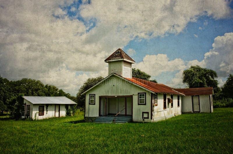 Grant School Bellville Texas abandonné photos libres de droits