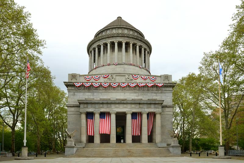 Grant Tomb, known as General Grant National Memorial, final resting place of Ulysses Grant, 18th President of United States, and h. Is wife, Julia Grant stock photo