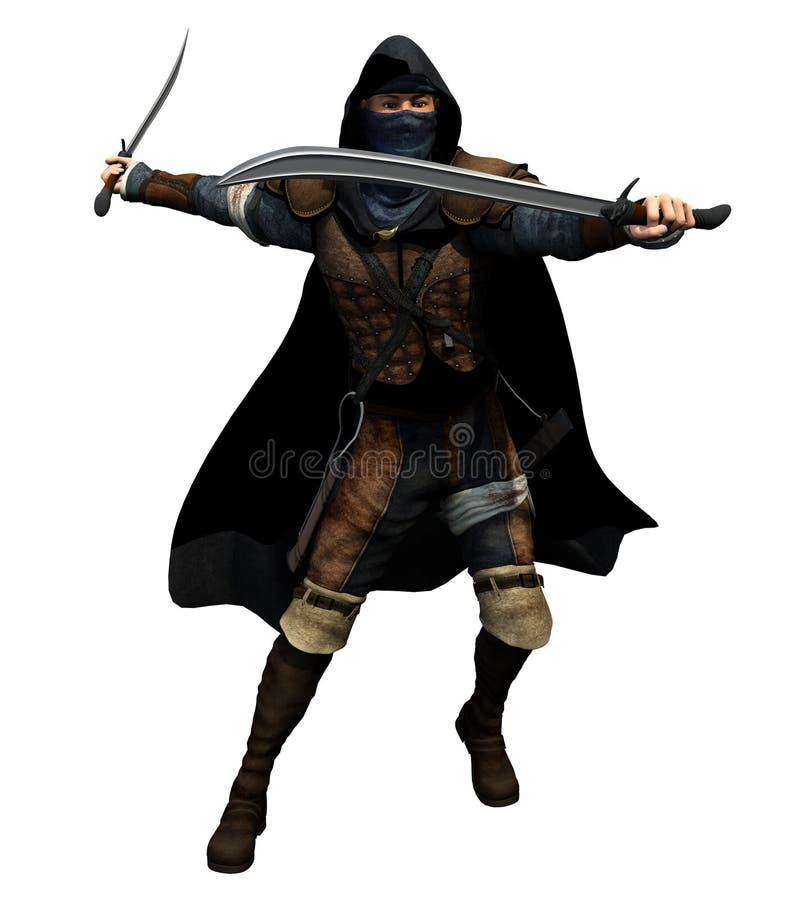 Granuja con dos espadas libre illustration