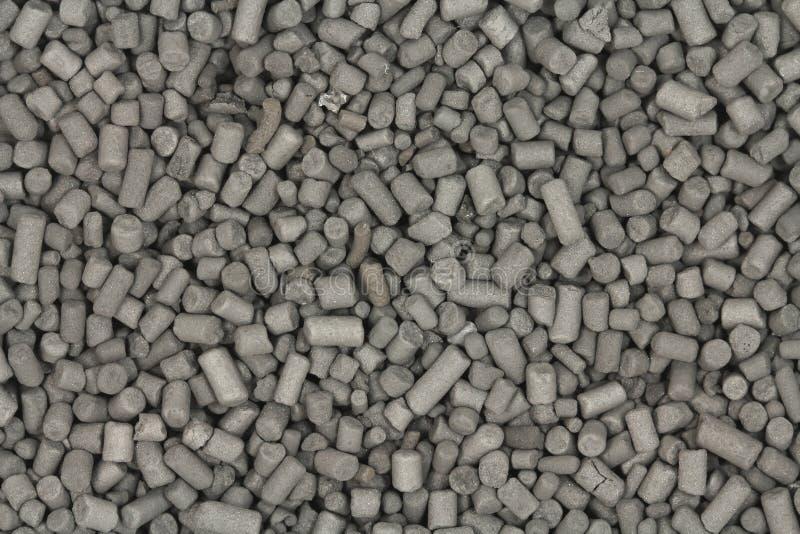 Granule aktywowany węgla czerni tło zdjęcie stock