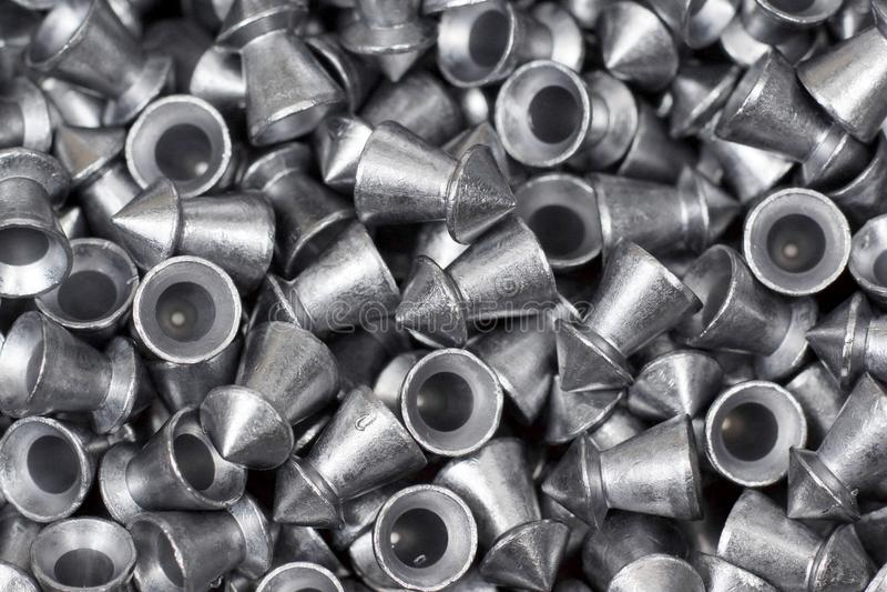 Granules de pistolet pneumatique photo stock