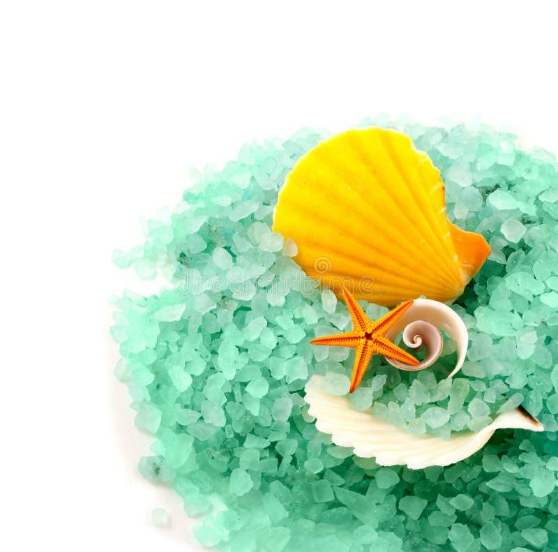 Granules de sel de mer. photos stock