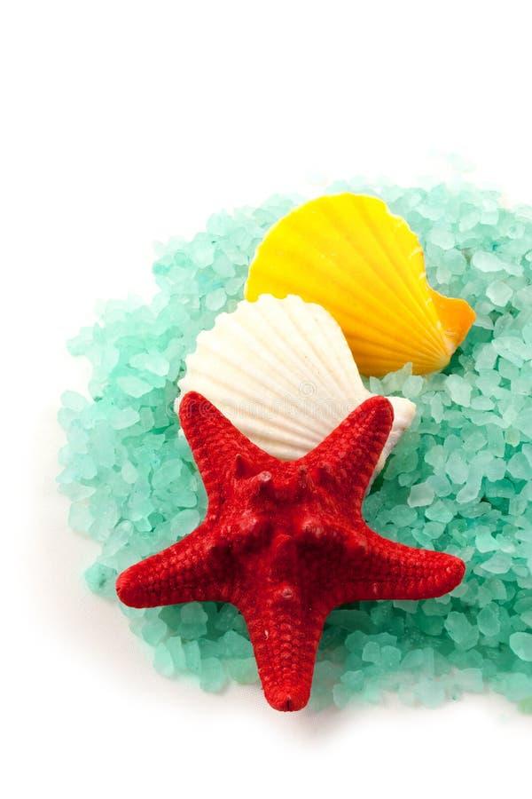 Granules de sel de mer. image libre de droits