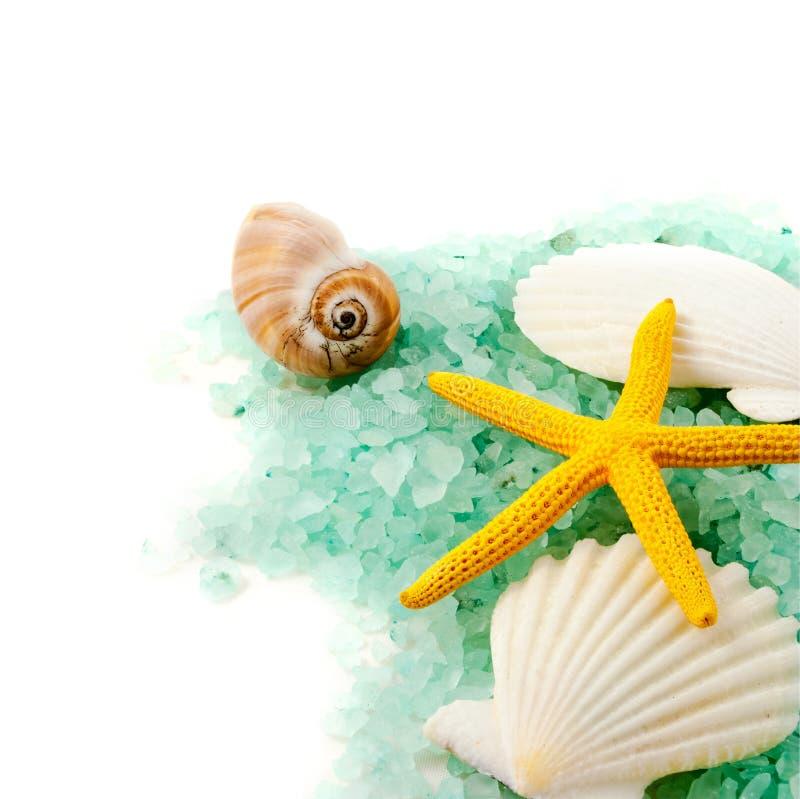 Granules de sel de mer. images libres de droits