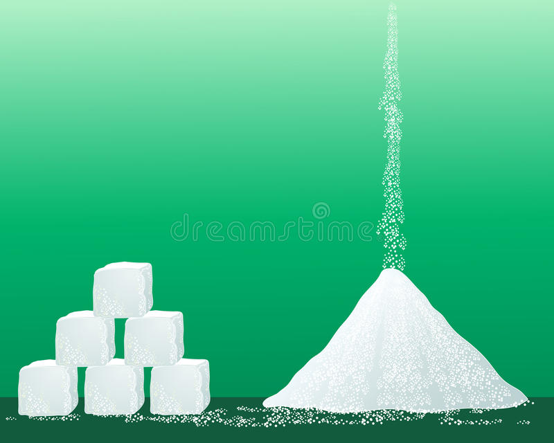 Granules de sucre illustration stock