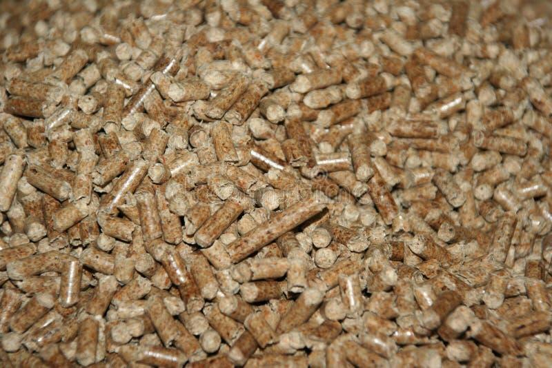 granulki drewniane zdjęcia stock