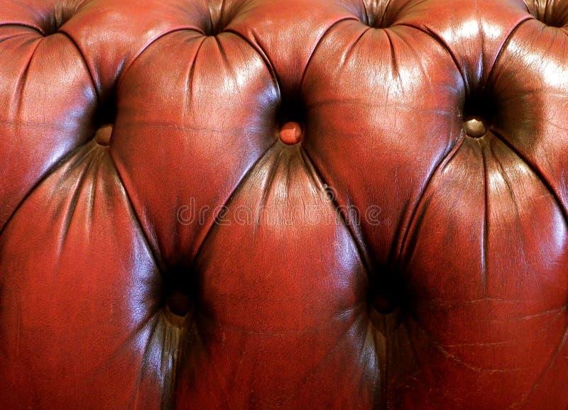Granulo di cuoio Chesterfield fotografia stock