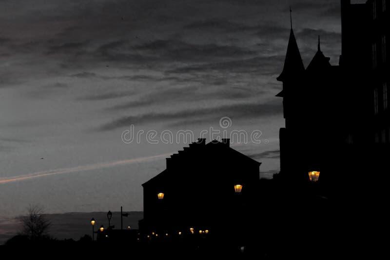 Granville en la noche foto de archivo libre de regalías