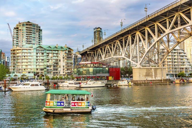 Granville Island Bridge Vancouver British Colombia Canada immagine stock