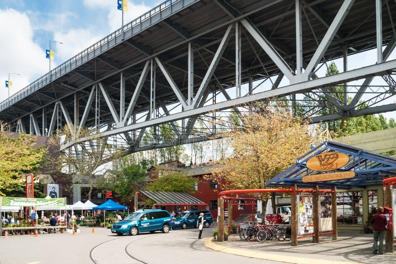 Granville Island Public Market en Vancouver, Canadá fotos de archivo