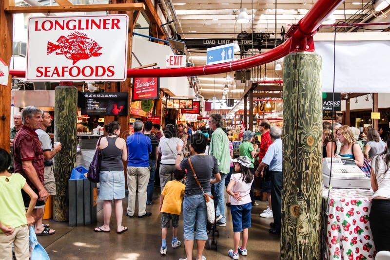 Granville Island Public Market i Vancouver arkivfoto