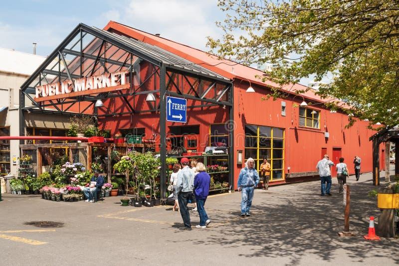 Granville Island Public Market i Vancouver, Kanada royaltyfri fotografi