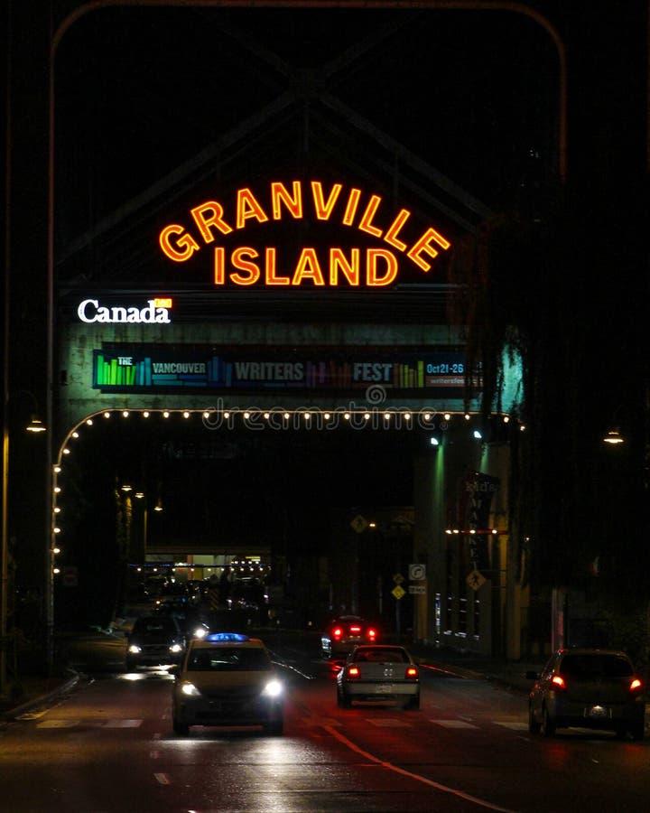 Granville Island, Vancouver, B C images libres de droits