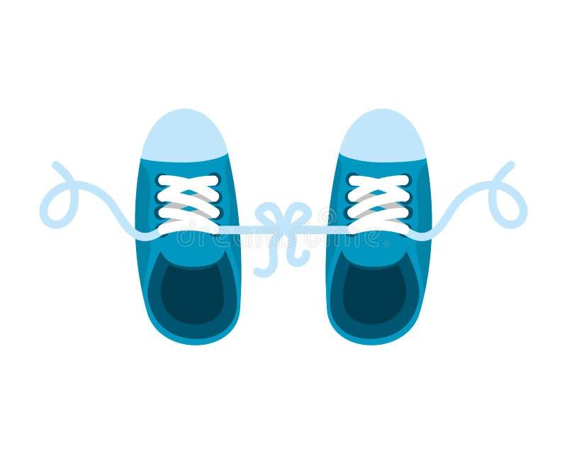 Grap met gebonden schoenen stock illustratie