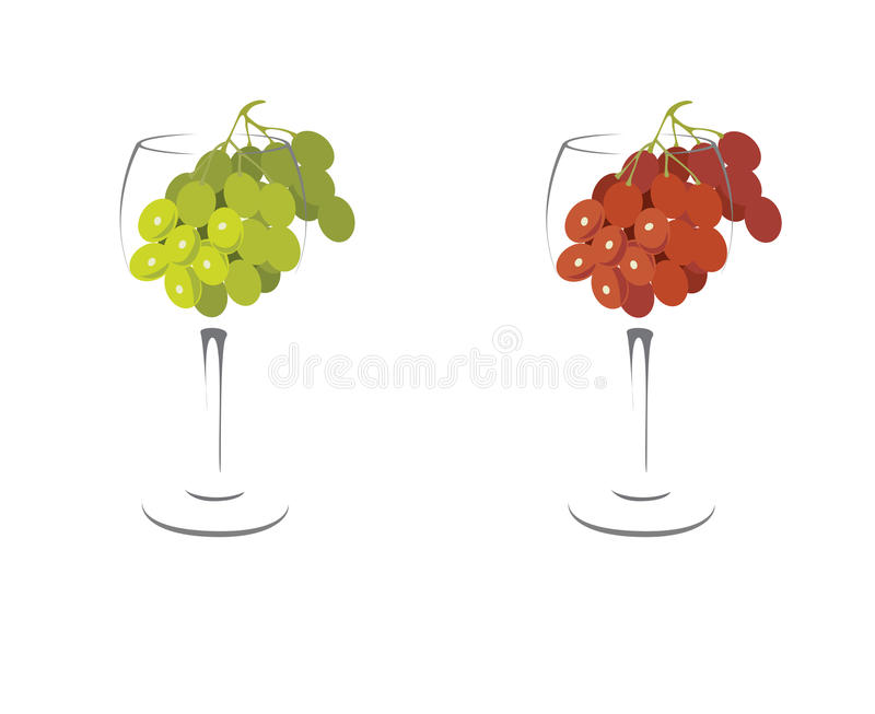 Grape And Bottle Of Wine Stock Image