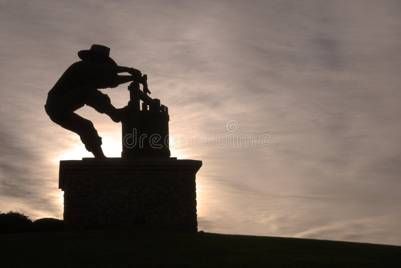 Download Grape Crusher stock image. Image of winemaker, monument - 3888341