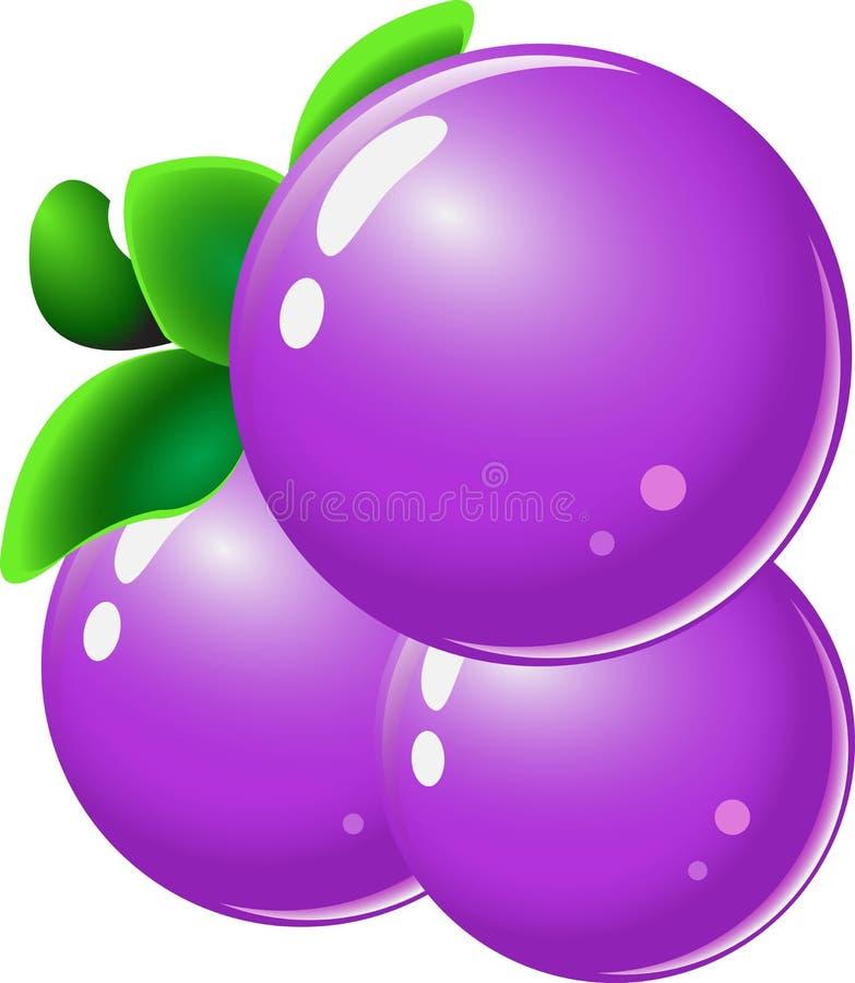 Grape-fruit rzeczy dla dopasowania 3 gier royalty ilustracja