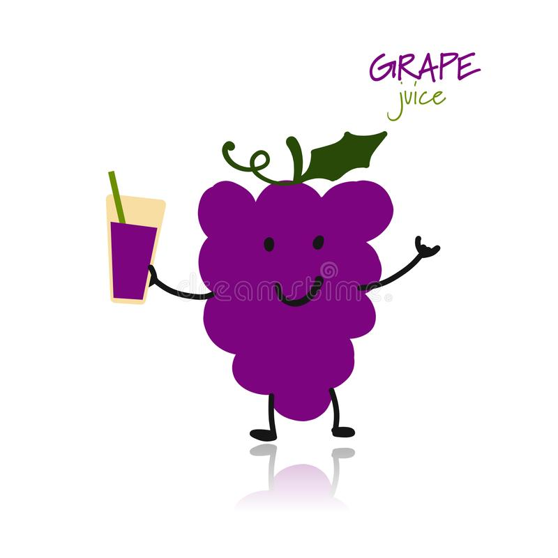 Free Grape, Funny Character For Your Design Royalty Free Stock Photos - 107412138