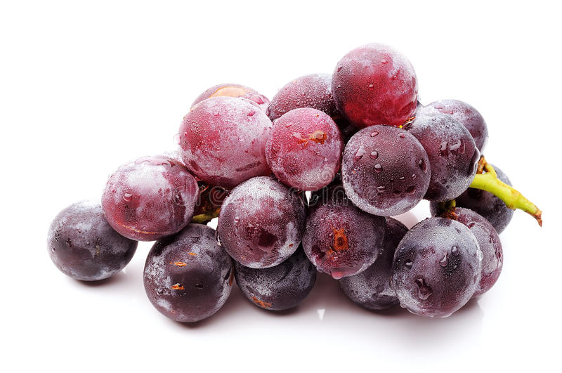 Grape, object, food. Image of fresh grape on white