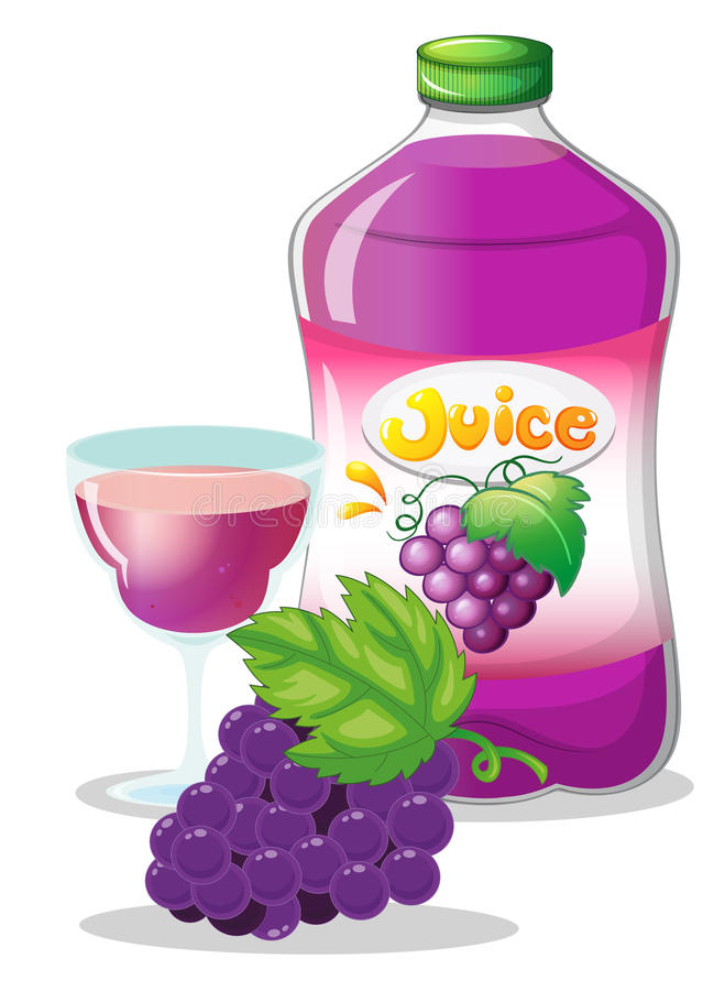 Grape juice vector illustration