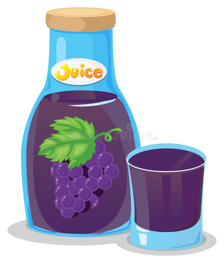 A grape juice stock illustration