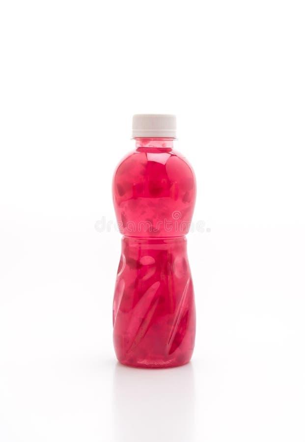 grape juice with nata de coco or coconut jelly stock photo