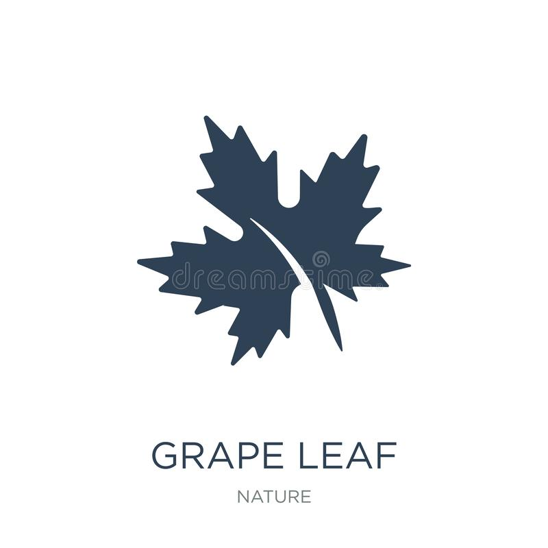 Free Grape Leaf Icon In Trendy Design Style. Grape Leaf Icon Isolated On White Background. Grape Leaf Vector Icon Simple And Modern Stock Images - 135721394