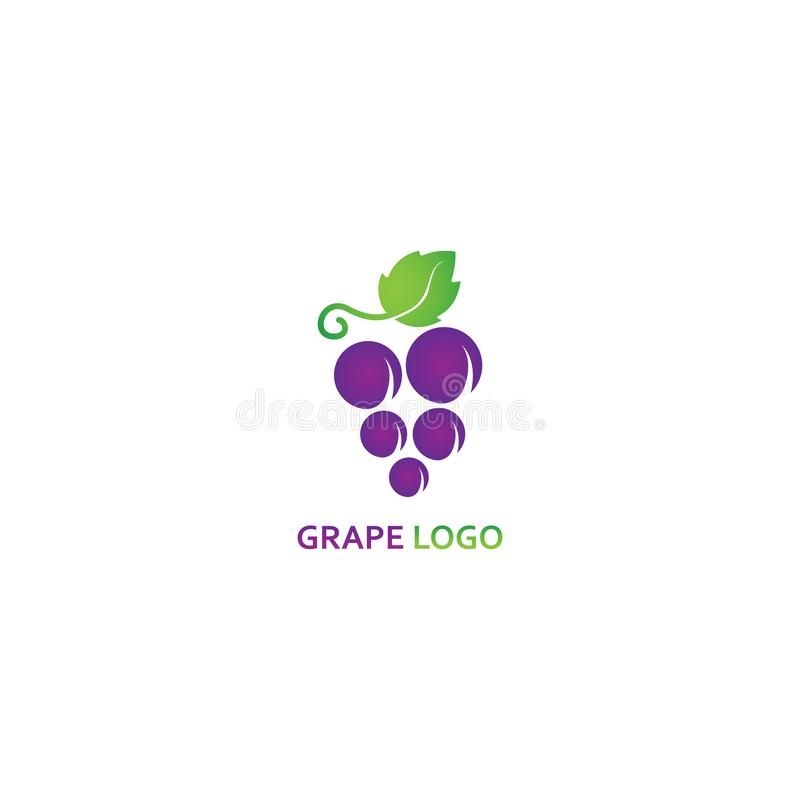 Grape Logo Template - vector stock illustration