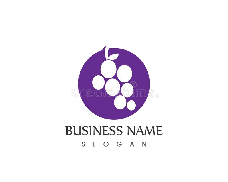 Grape logo vector template,icon symbol logo vector template stock illustration