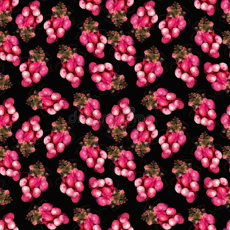 Pink grape pattern vector illustration