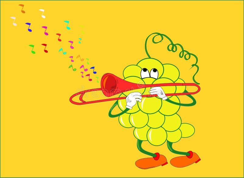Download Grape that plays stock illustration. Illustration of trumpet - 10603910