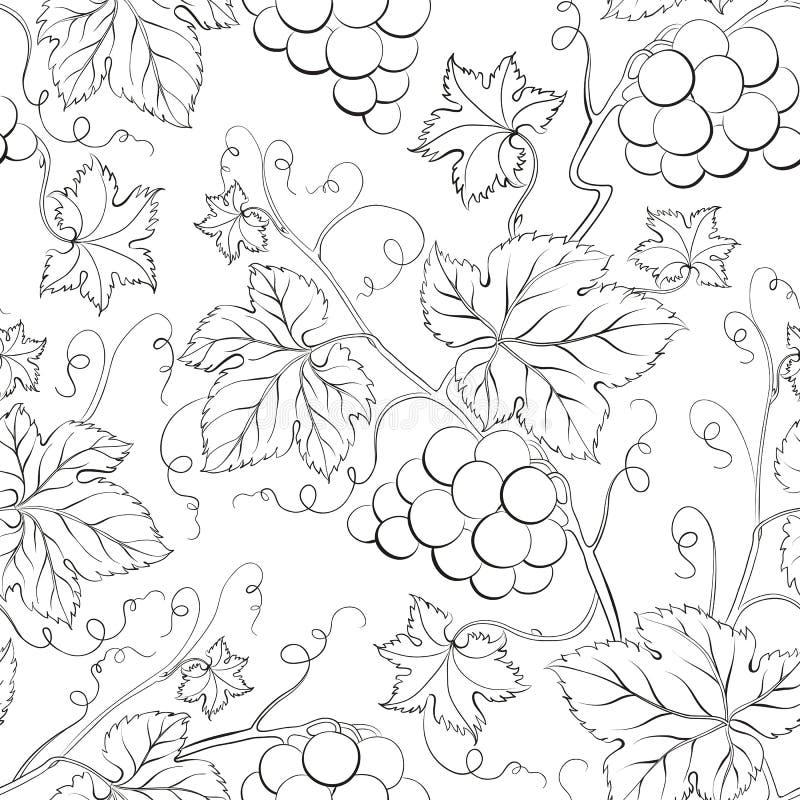 Download Grape Seamless Pattern. stock vector. Illustration of autumn - 31599199
