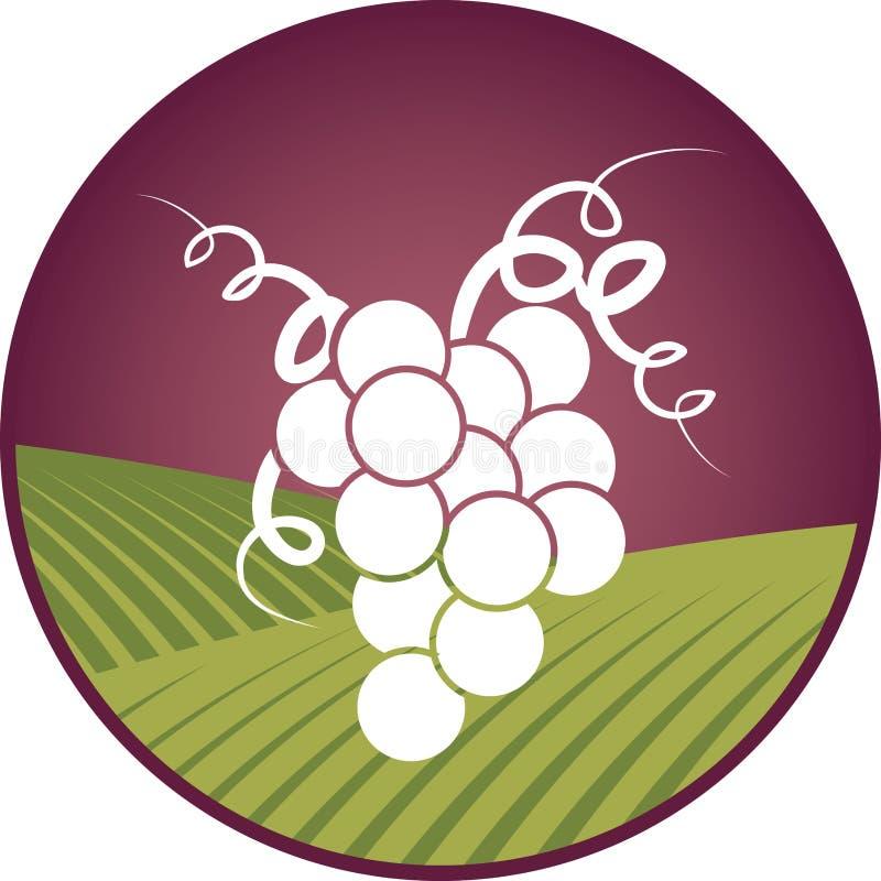 Grape Symbol. An elegant grape/wine icon or symbol vector illustration